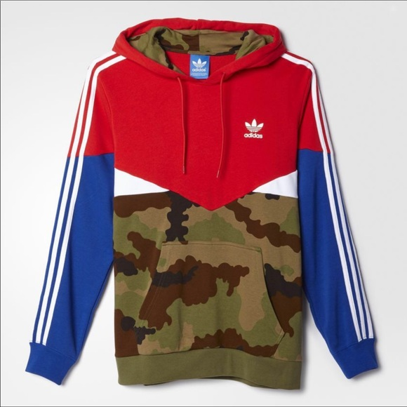Adidas Essentials Pullover Camo Pack Hoodie AY8106 NWT